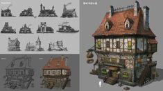 A medieval inn (pub), tae hoon kang on ArtStation at https://www.artstation.com/artwork/eeakw