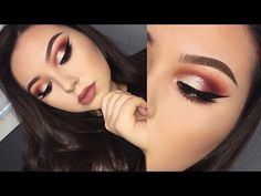 GLITTER CUT CREASE | VALENTINES DAY MAKEUP FT VIOLET VOSS HOLY GRAIL PALETTE - YouTube