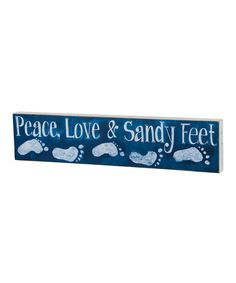 Look at this Blue 'Sandy Feet' Wall Sign on #zulily today!