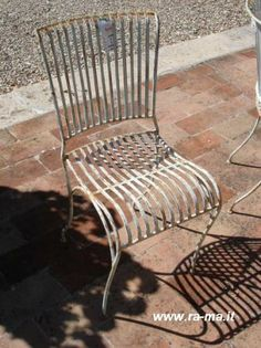 Set of 6  Iron chairs