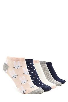 93a58de59eefc Bunny Print Socks - 5 Pack Cute Tights, Fishnet Tights, Sheer Tights,  Novelty