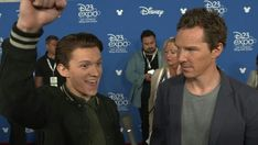 Tom's like, YEAH! And Benedict is just like wtf?