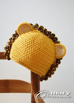Lion Hat King of the Jungle Crochet Beanie by MaryOriginals