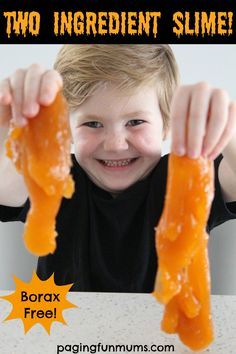 That's right, Two Ingredient Slime! Using chemical free natural ingredients that you will have at home