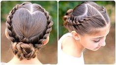 Dutch Flower Braid | Updos | Cute Girls Hairstyles - YouTube