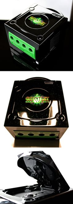 custom Gauntlet dark legacy gamecube by on DeviantArt Video Game Decor, Video Game Rooms, New Video Games, Playstation, Xbox, Custom Consoles, Retro Arcade, Nintendo Consoles, Games Consoles