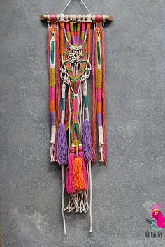JAISA wall hanging unique boho macrame with tassels and knots