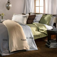 Hemstitch 400 Thread Count Solid Cotton 3-piece Duvet Cover Set | Overstock.com Shopping - The Best Deals on Duvet Covers