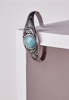 Semi Precious Stone Bangle - Accessories - Jewellery - Bracelets - Missguided