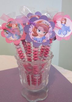 Sofia the first Party Favors by POPSnMORE on Etsy, $16.00