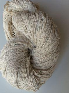 Fils de coton recyclé. poids de la dentelle, 5/2 temps. Ce poids, fils de coton filé, incolores. Fils de commerce équitable art.  Fil à tricoter, crocheter le fil.