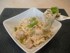 Tagliatelle z sosem serowym
