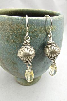 Bohemian Jewelry, Boho Luxe Earrings, Hill Tribe Silver Earrings