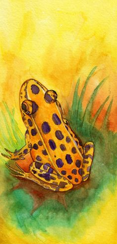 Leopard Frog Changes His Spots - Watercolor Painting Giclee Print