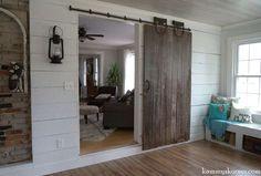 sliding barn door from a forsaken farm stead, dining room ideas, doors, home improvement, repurposing upcycling