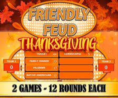 Thanksgiving trivia game Thanksgiving Friendly Feud Game Virtual PowerPoint Zoom Night Fun Family Feud Games Party quiz Customizable adults