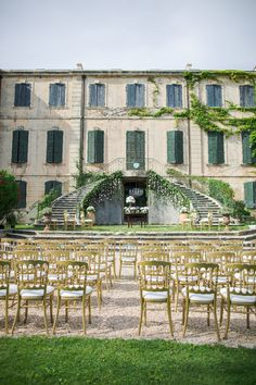Stunning Ceremony Venue | Summer Chateau South of France Wedding. Photography: Marianne Taylor Photography - mariannetaylorphotography.co.uk