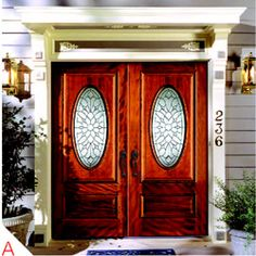 Simpson Door Mahogany Collection entry doors feature three designs