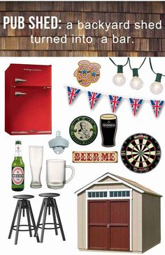 Yes I will have a pub shed one day! Or maybe a pub closet? Okay a bar cart. But…