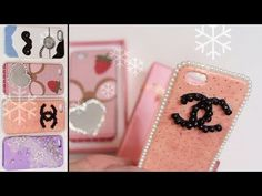 DIY Phone Case (Gift Ideas His & Her) Lace, pearls, moustache, chanel, Mirror iphone case