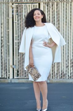 Girl With Curves: White Hot; LOVE this outfit - need more beautiful classy clothes like this for plus-size women! Curvy Girl Fashion, Plus Size Fashion, Vestido Asos, Mode Top, Looks Plus Size, Girl With Curves, Asos Dress, Jolie Photo, Look Chic