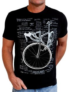 Cognitive Therapy - tee with all great cycling mantras in the background. A must have for any cyclist. www.cycologygear.com