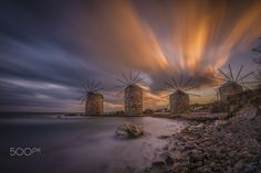 Chios Sunset by aytugbayer Chios Greece, Urban Exploration, Le Moulin, Greece Travel, Places Ive Been, To Go, Greek, Sky, Island