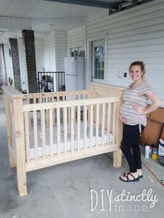 How to build a DIY Crib | View the blog post at www.diystinctlymade.com #diy #crib #nursery
