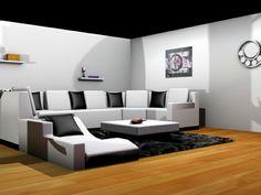 Salon 3d réalisé avec 3ds max