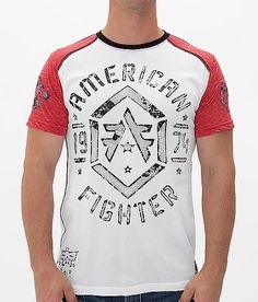 American Fighter Calvin T-Shirt - Men's T-Shirts in White Red Fight Wear, American Fighter, Mens Fall, Trends, Mens Tops, T Shirt, Clothes, Shopping, Style