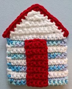 Beach Hut - Tap the link to see the newly released collections for amazing beach bikinis Crochet Poppy Free Pattern, Easy Crochet Patterns, Applique Patterns, Crochet Patterns Amigurumi, Free Crochet, Crochet Bunting Pattern, Nautical Crochet, Beach Crochet, Crochet Home