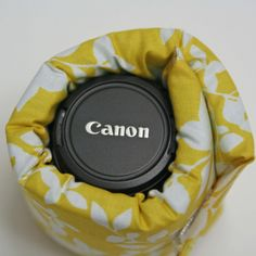 Sew this lens cozy instead of a padded camera lens case - another way to protect your dslr lenses