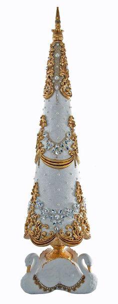 """Katherine's Collection Royal White Christmas Collection 35"""" Royal Swan – Collectible Doll Sales Inc."""