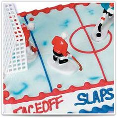 Hockey:  No penalty for icing with this cake!  #bakery #birthday #cake #kids