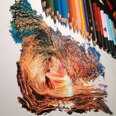 Karla faz desenhos hiper-realistas usando lápis de cor, marcadores e um pouco de tinta. O uso e a percepção das cores em seus desenhos são impressionantes.