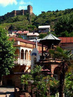 Tbilisi old town and Narikala Fortress