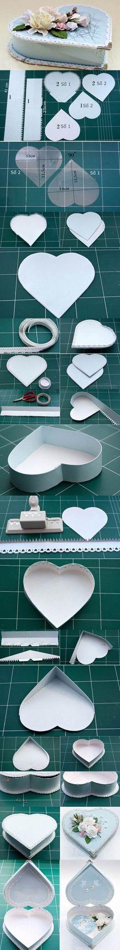 DIY Heart Shaped Gift Box 2