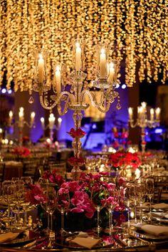 Decoração festa de casamento - Luzinhas (Decoração: Lais Aguiar | Foto: Demian Golovaty)