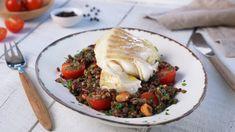 Ovnsbakt torsk med linser | Oppskrift - MatPrat Turkey, Fish, Meat, Chicken, Cooking, Breakfast, Healthy, Ethnic Recipes, Dinner Ideas