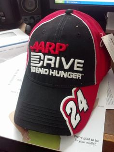 Mike Doucette (@Duceyyyy) displays his Jeff Gordon #24 Drive to End Hunger Big Sponsor Hat - $24.99