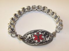 Custom Medical Alert Bracelet - pick the bracelet and the plate