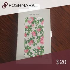 iPhone 6 Plus Sherri Hill Phone Case A white, floral pattern phone case for an iPhone 6 Plus. Never has been used. Sherri Hill Accessories Phone Cases