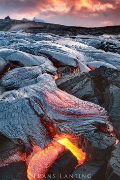 Lava flows, Hawaii Volcanoes National Park, Hawaii
