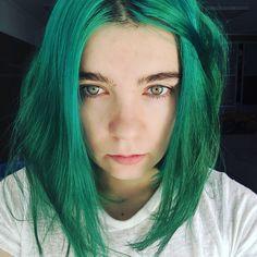 Green hair girl from Moldova, spring 2020 Green Hair Girl, Moldova, Girl Hairstyles, Archive, Dreadlocks, Spring, Hair Styles, Beauty, Hair Plait Styles