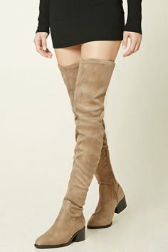 904d9b9f4 Thigh-High Faux Suede Boots Knew High Boots, Long Boots, Shoes Heels Boots