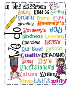 "First Grade Wow-sharing my alphabetical ""We Do"" mini poster- free printable Classroom Charts, Classroom Quotes, Classroom Freebies, Classroom Posters, Future Classroom, School Classroom, Classroom Ideas, Classroom Signs, Preschool Class"