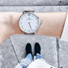 it is a good day to have a good day @the_cosmopolitas is wearing our silver mesh watch | kapten-son.com
