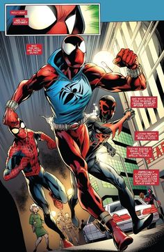 page 10 from Ben Reilly: The Scarlet Spider by Mark Bagley, John Dell, Jason Keith, Peter David and Joe Caramagna Action Comics, Marvel Comics Art, Marvel Comic Books, Comic Book Characters, Marvel Heroes, The Crow, Spiderman Art, Amazing Spiderman, Univers Marvel