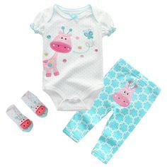 para beb/é ni/ña Simple Joys by Carters Conjunto Juego de 4 piezas de camisas y pantalones de manga larga
