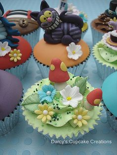 Toadstools and Flowers -   Alice in Wonderland Collection by Darcy's Cupcake Creations, via Flickr